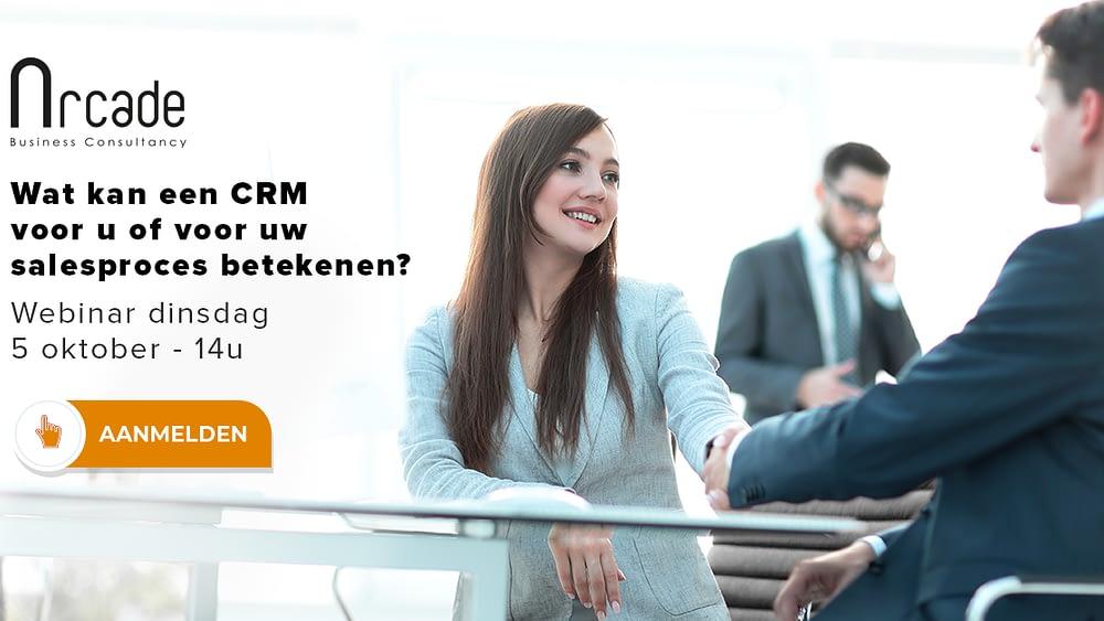 Webinar wat kan een CRM voor u of voor uw salesproces betekenen?